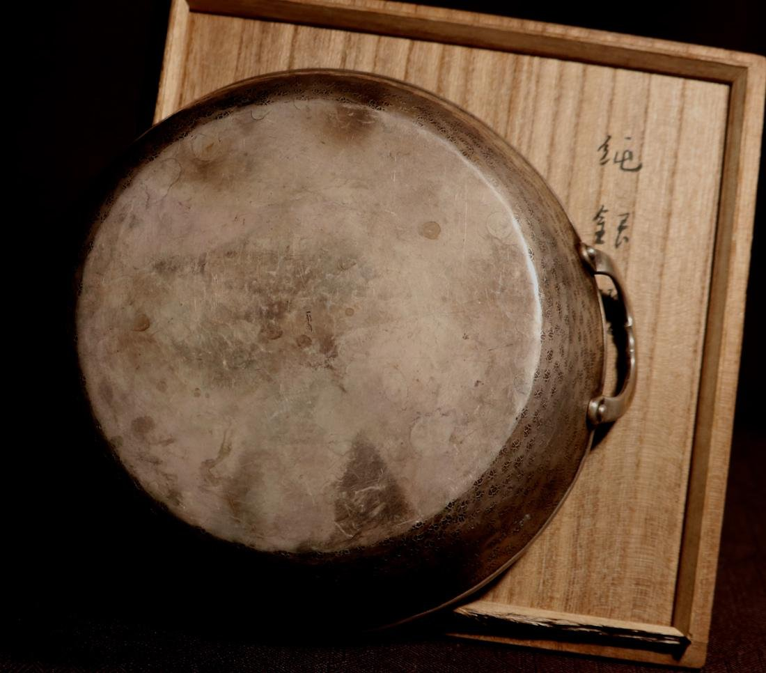 Japanese Sterling Silver Shahu Shabu Hot Pot with - 5