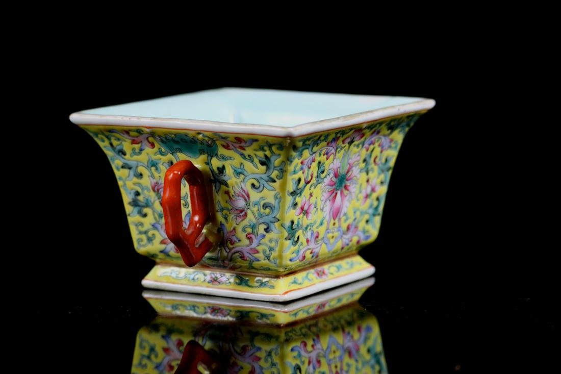 Chinese Famille Rose Porcelain Cup with Two Handle - 5