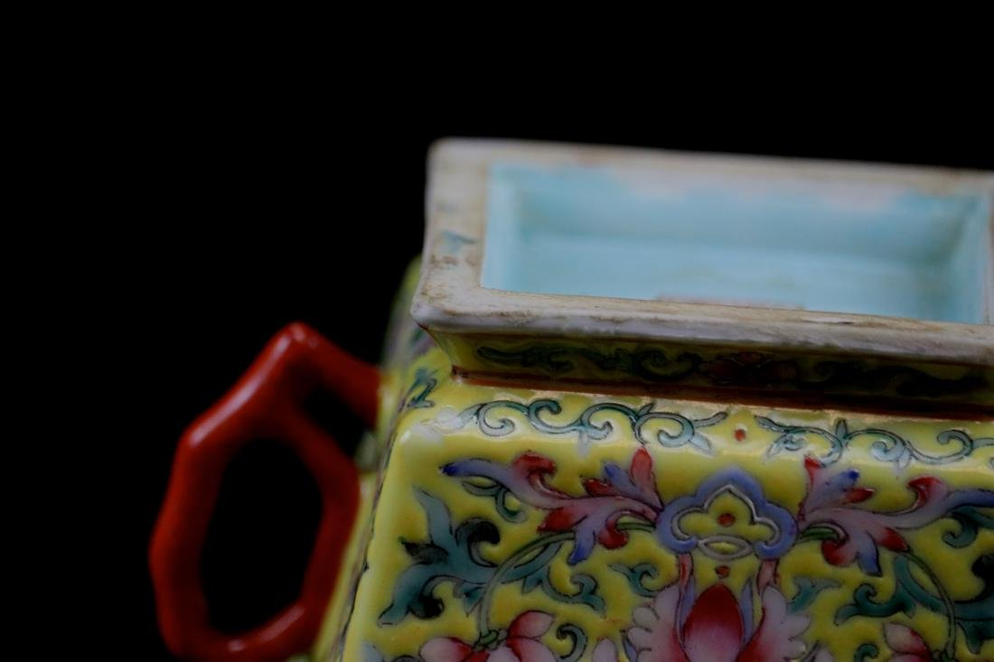 Chinese Famille Rose Porcelain Cup with Two Handle - 8