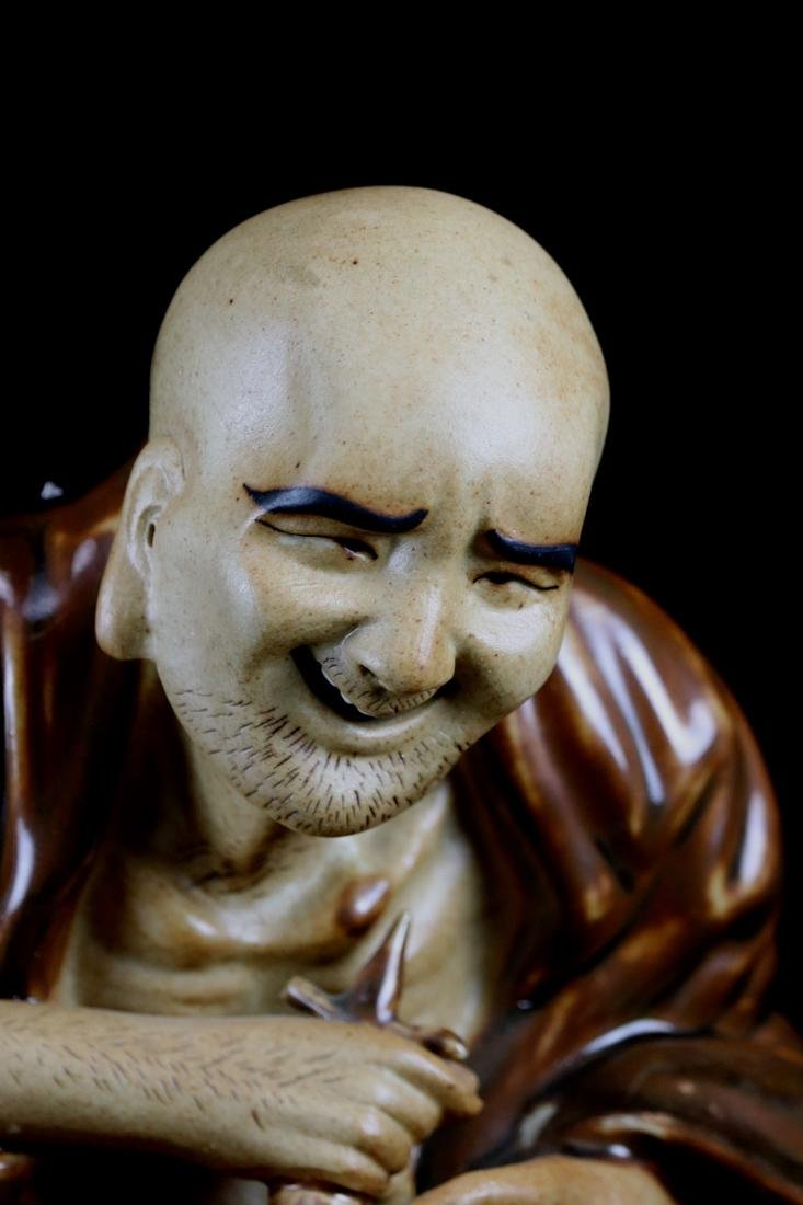 Chinese Porcelain Figurine of a Lohan - 2