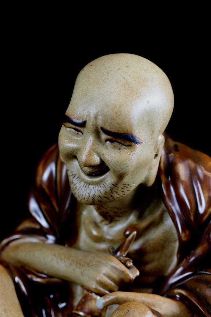 Chinese Porcelain Figurine of a Lohan - 5