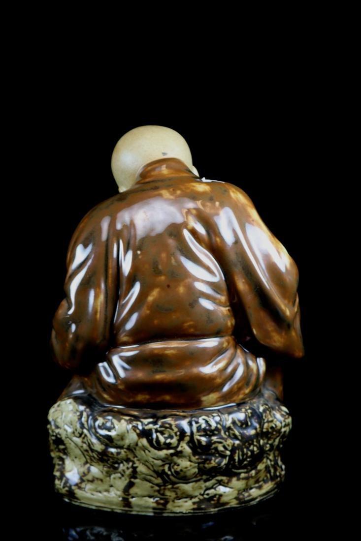 Chinese Porcelain Figurine of a Lohan - 6