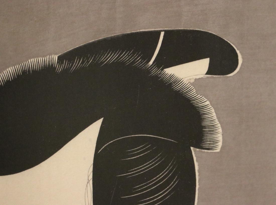 Japanese Wood Block Print of Silver Ground - Sharaku - 6