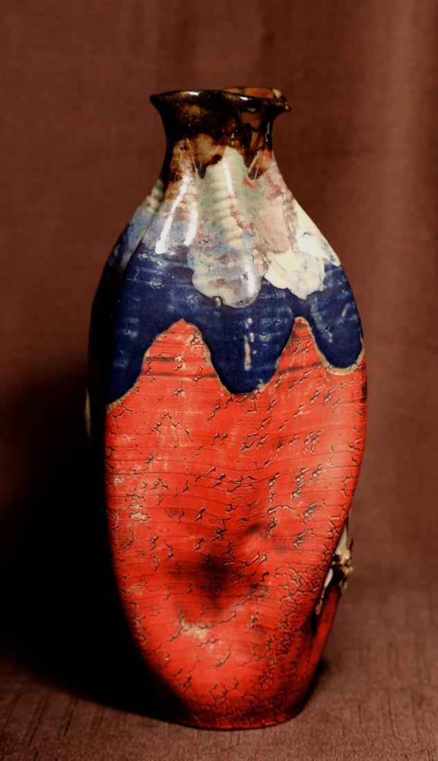 Japanese Sumida Gawa Porcelain Vase with Elephane - 5