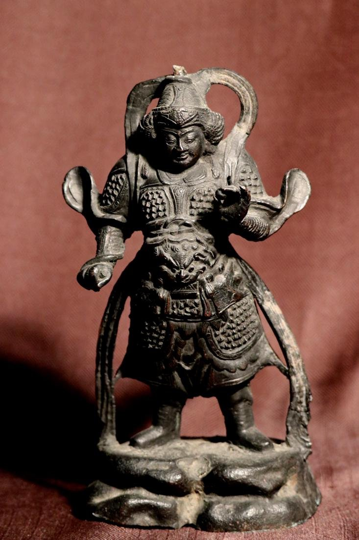 Chinese Ming Bronze Guardian
