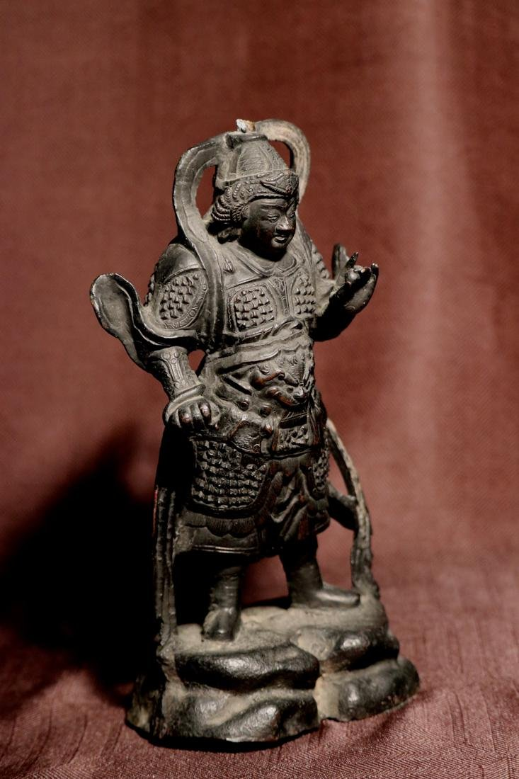 Chinese Ming Bronze Guardian - 4