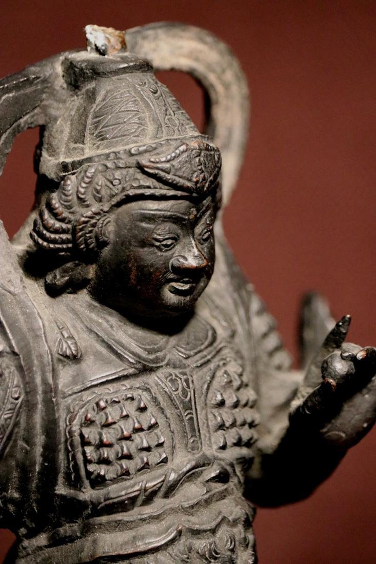 Chinese Ming Bronze Guardian - 5