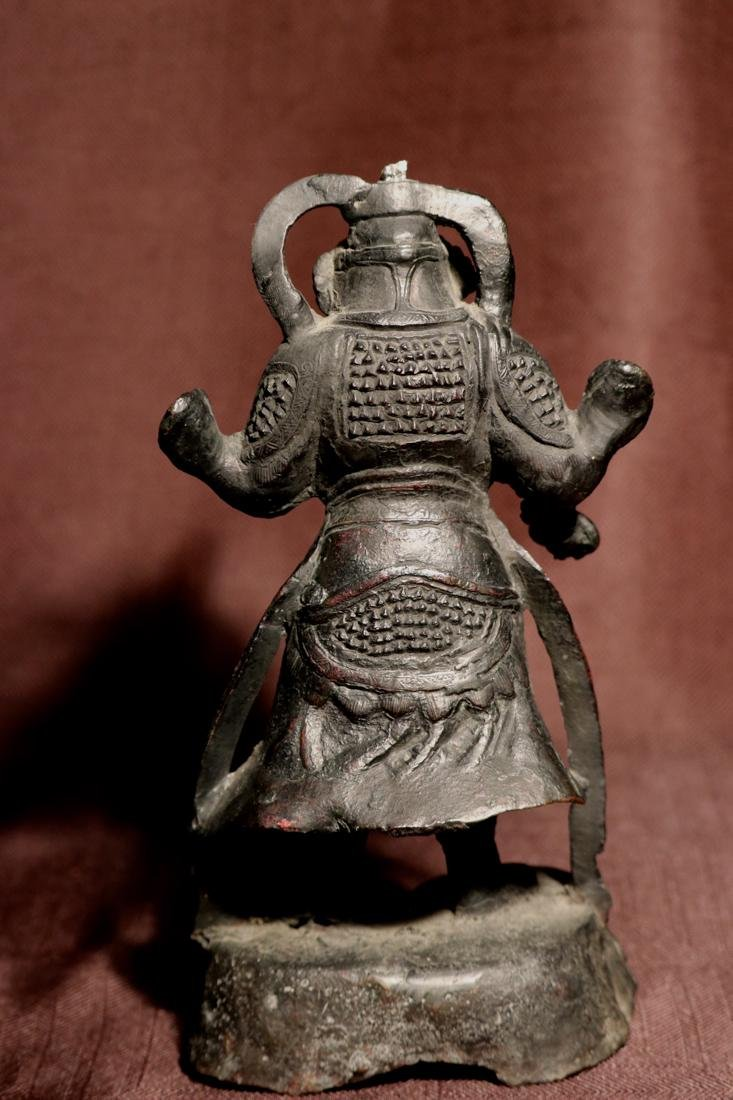 Chinese Ming Bronze Guardian - 7