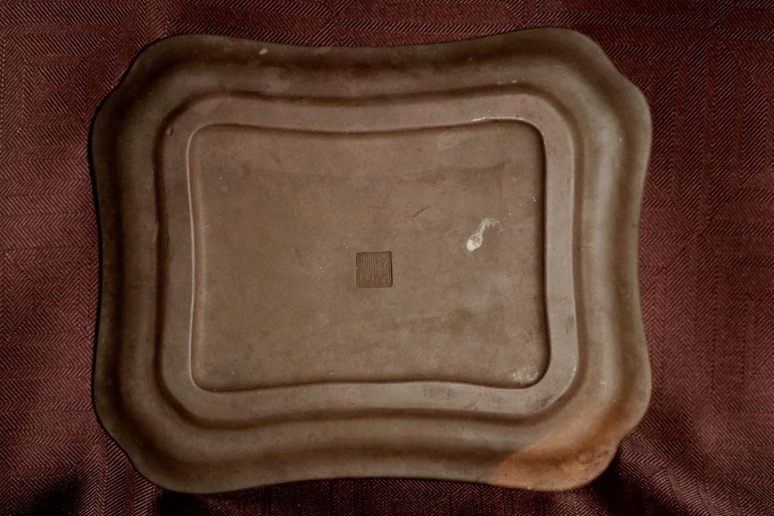 Chinese Yixin Platter with Bird Scene - 5