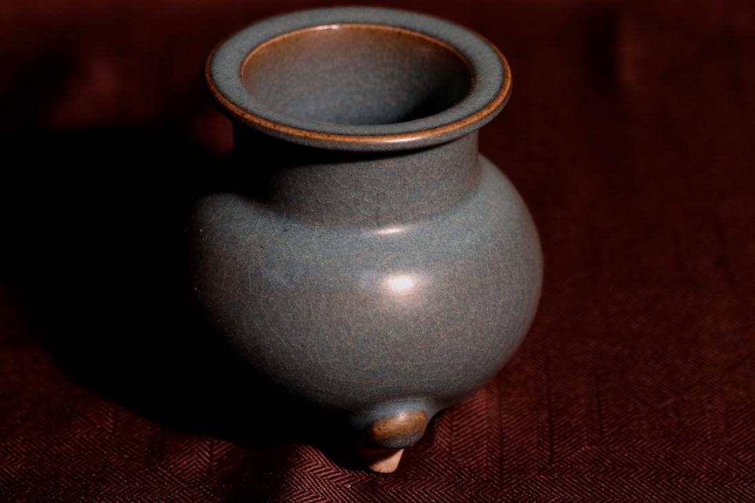 Chinese Jun Yao Porcelain Censer - 5