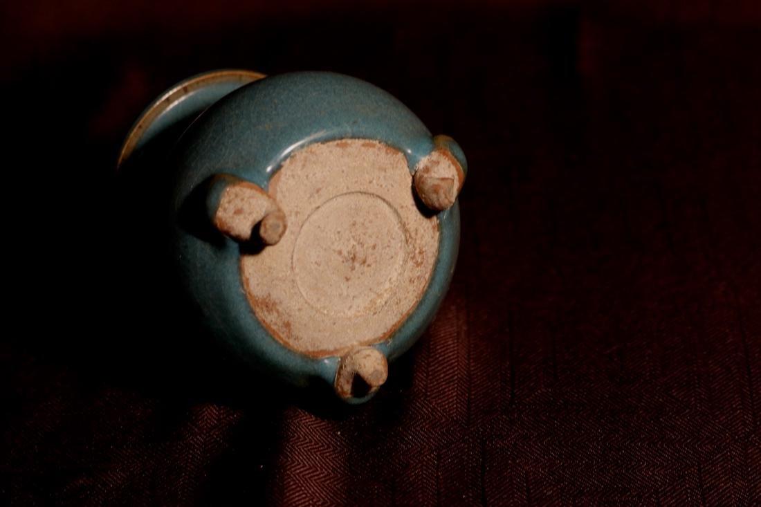 Chinese Jun Yao Porcelain Censer - 6