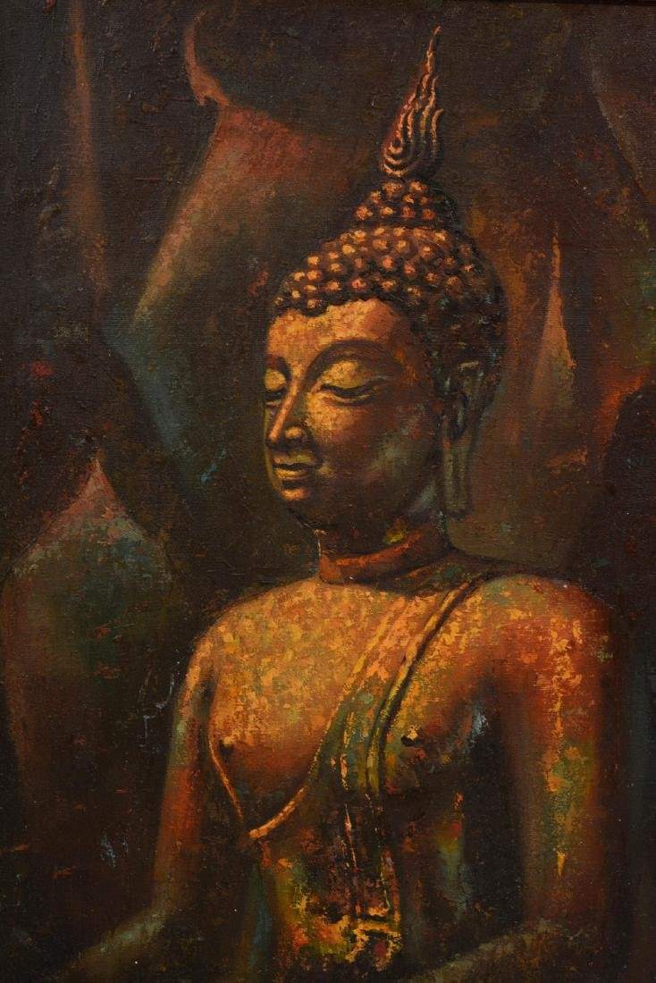 Oriental Oil Painting of a Buddha - 2