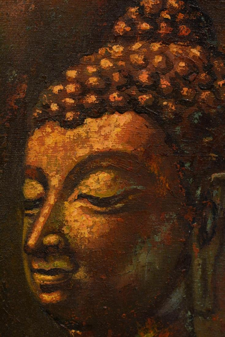 Oriental Oil Painting of a Buddha - 3