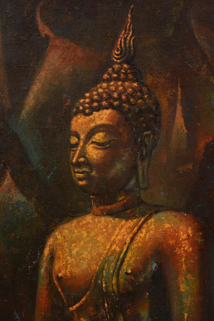 Oriental Oil Painting of a Buddha - 5