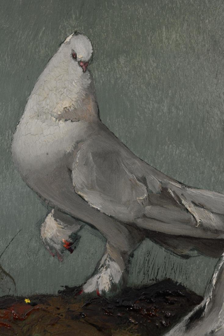 Japanese Oil on Board - Pigeon - 5