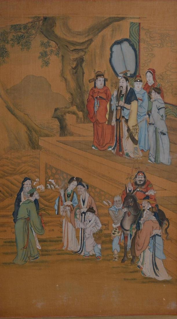 Two Chinese Painting Panel - figural Scene - 2