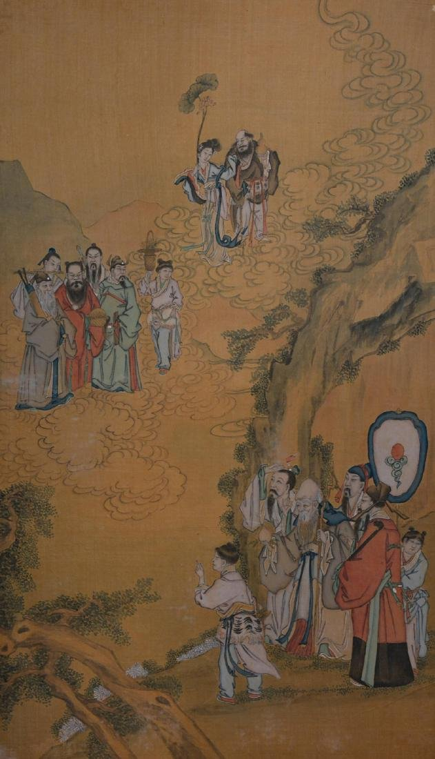 Two Chinese Painting Panel - figural Scene - 3