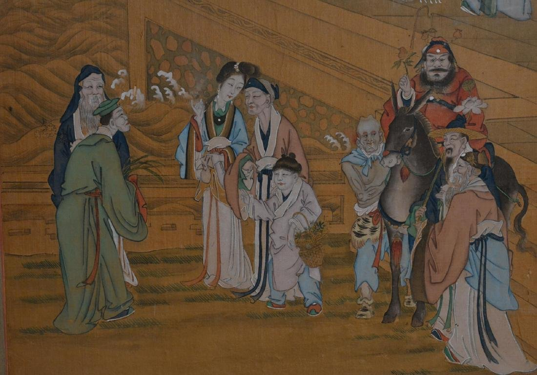 Two Chinese Painting Panel - figural Scene - 5