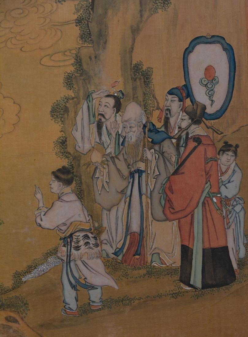 Two Chinese Painting Panel - figural Scene - 6