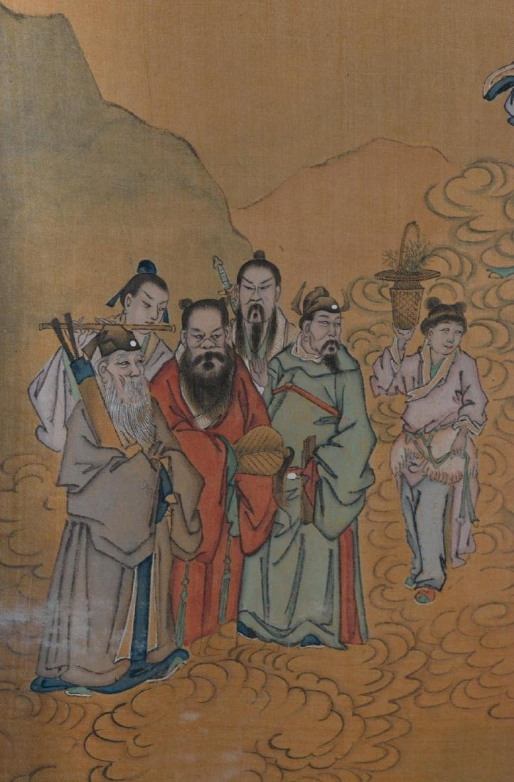 Two Chinese Painting Panel - figural Scene - 7