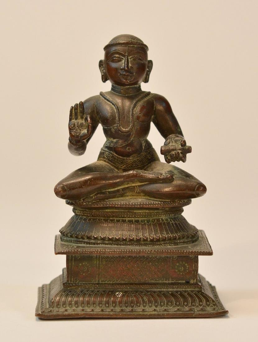 Seated Indian Bronze Priest