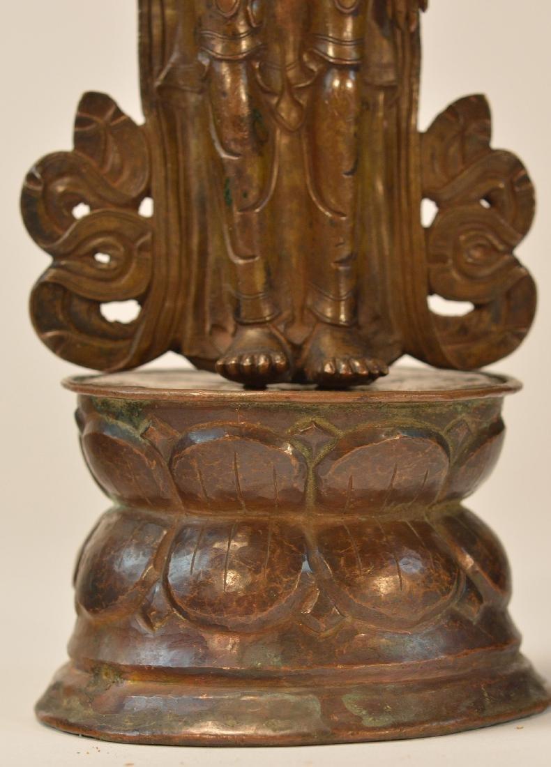 Tibet Bronze Standing Diety - 3