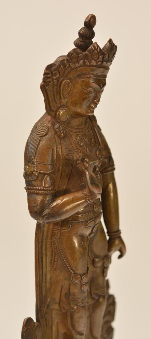 Tibet Bronze Standing Diety - 4