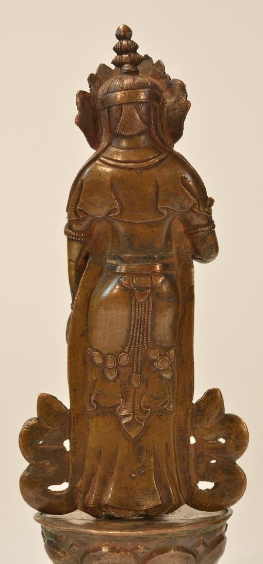 Tibet Bronze Standing Diety - 5
