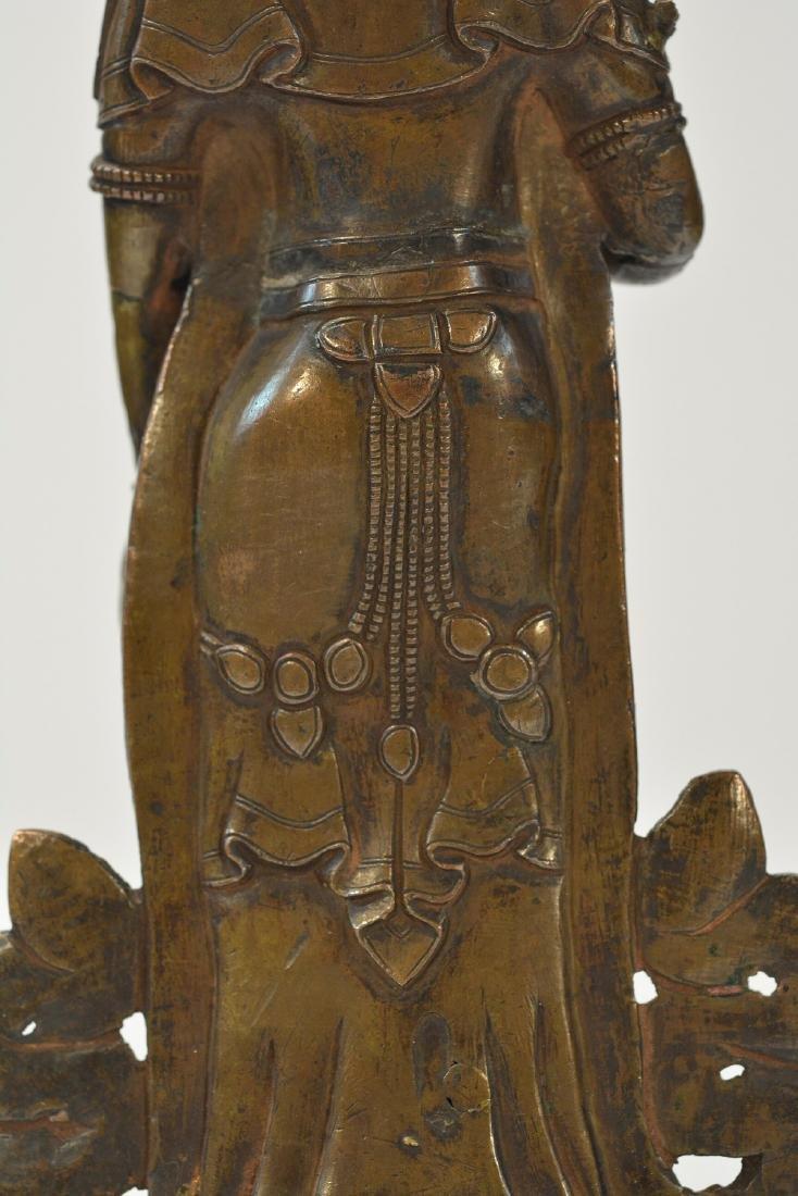 Tibet Bronze Standing Diety - 6