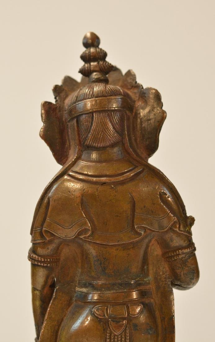 Tibet Bronze Standing Diety - 7