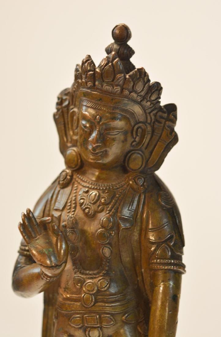 Tibet Bronze Standing Diety - 8