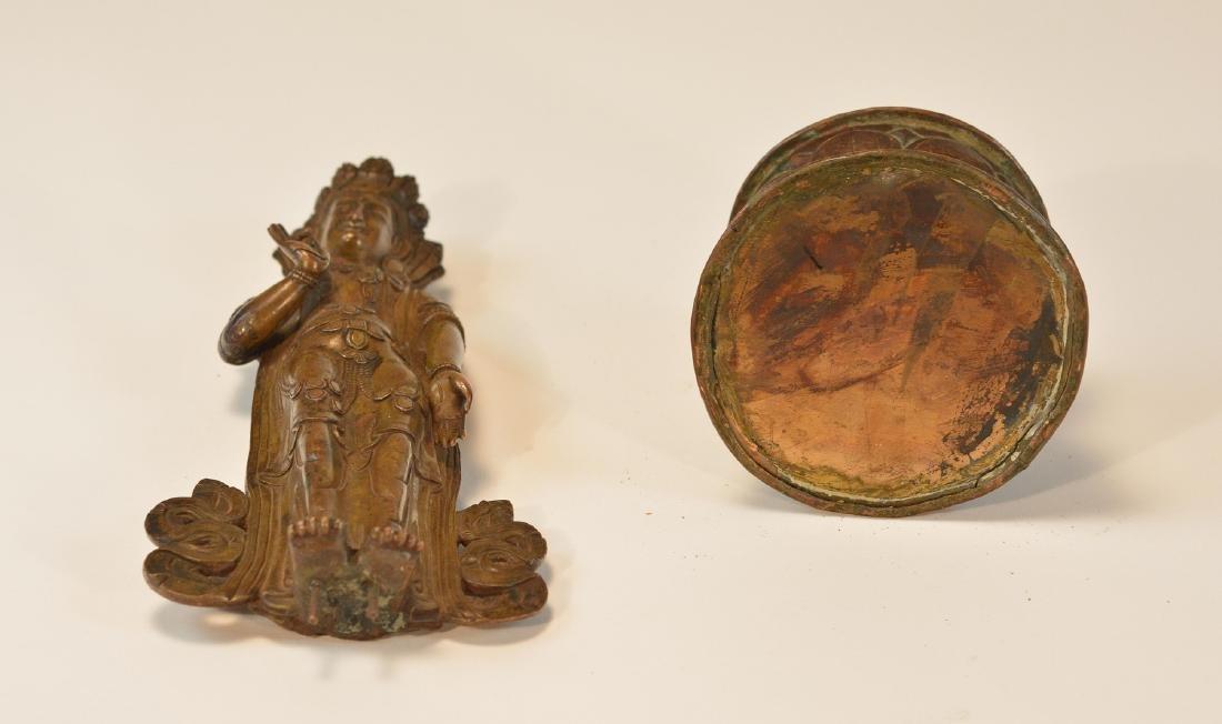 Tibet Bronze Standing Diety - 9
