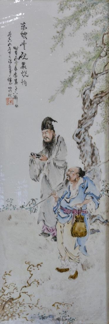 Pair Chinese Porcelain Wall Panels - 3