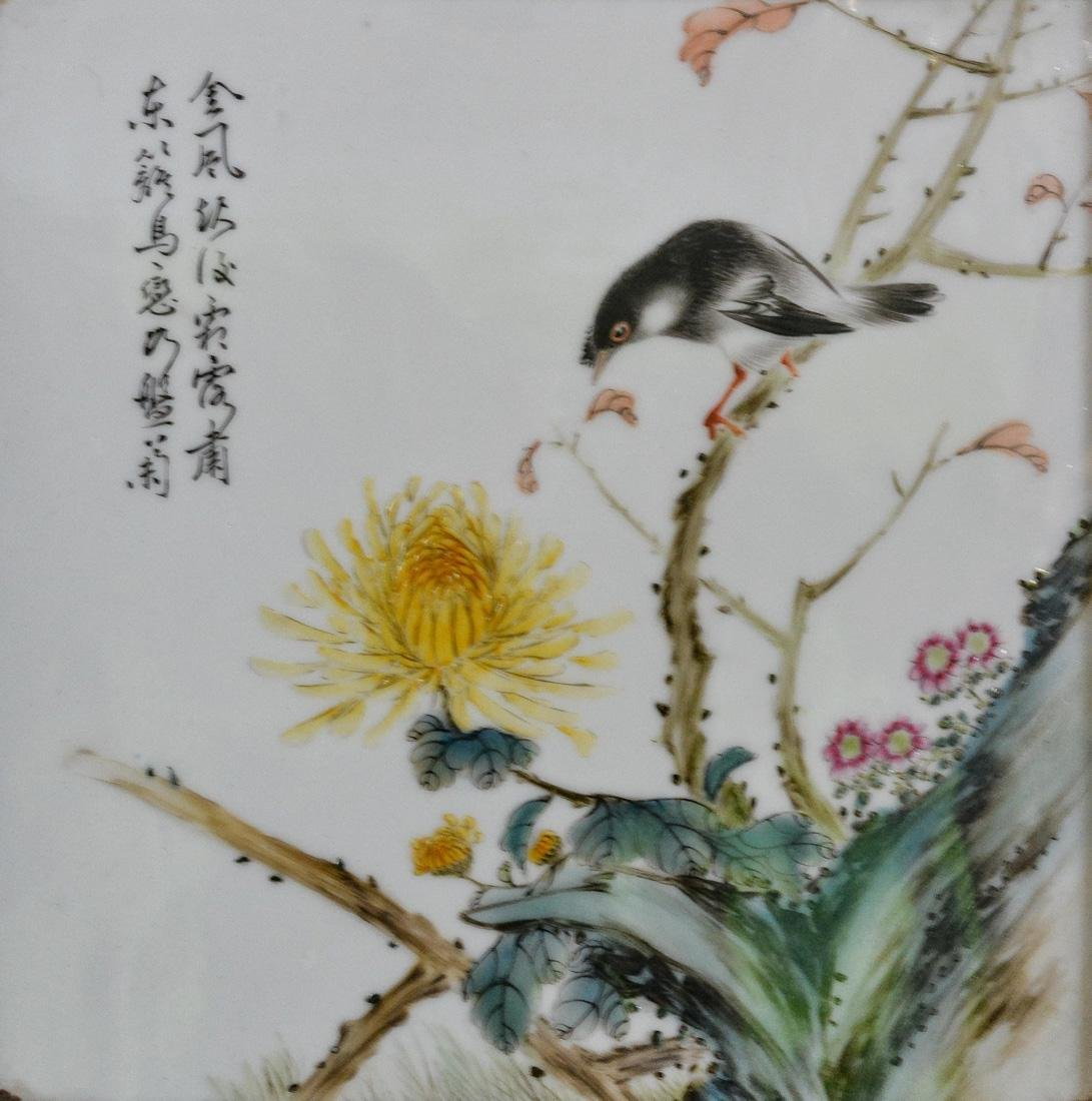 Pair Chinese Porcelain Wall Panels - 5