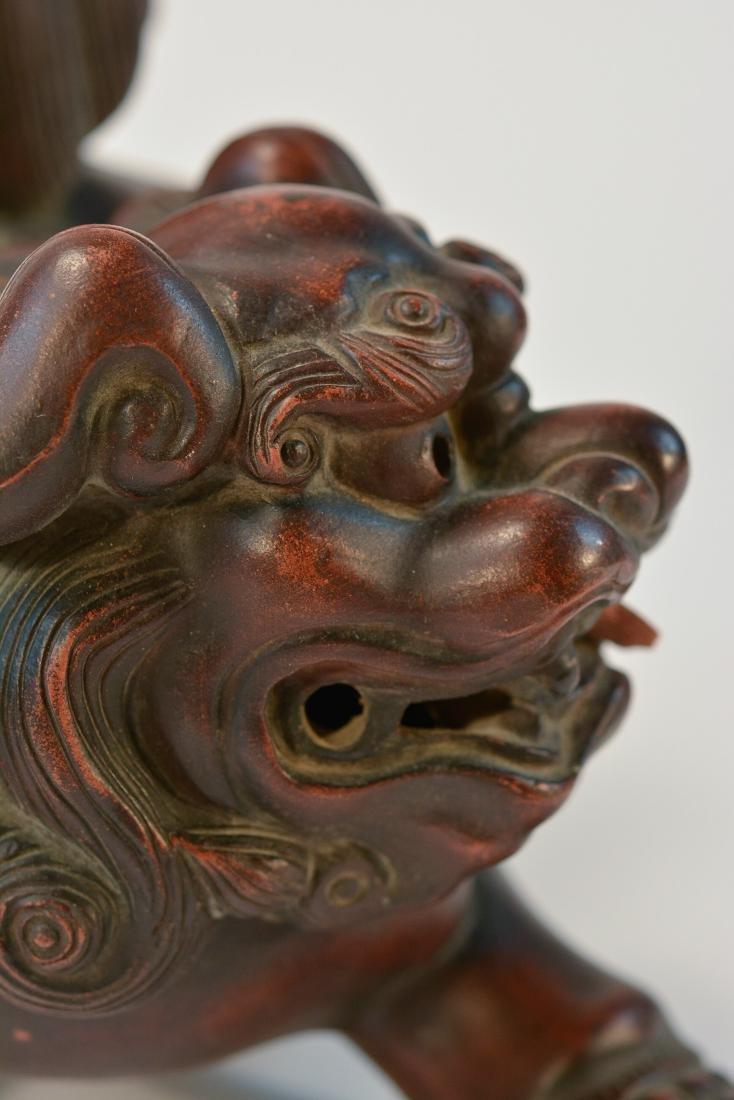 Japanese Bizen Ware Porcelain Model of Shishi Foolion - 5