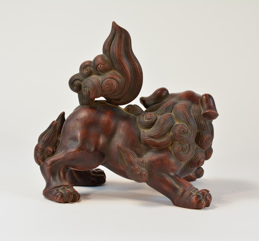 Japanese Bizen Ware Porcelain Model of Shishi Foolion - 6