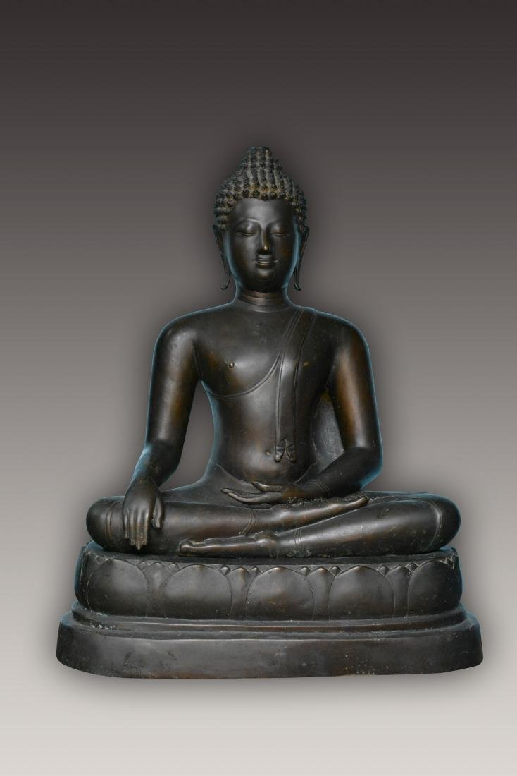 Important Thai Seated Bronze Buddha