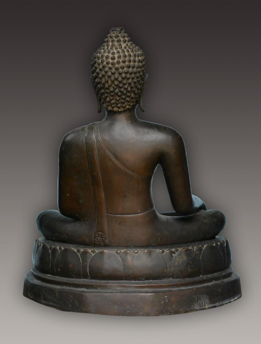 Important Thai Seated Bronze Buddha - 3