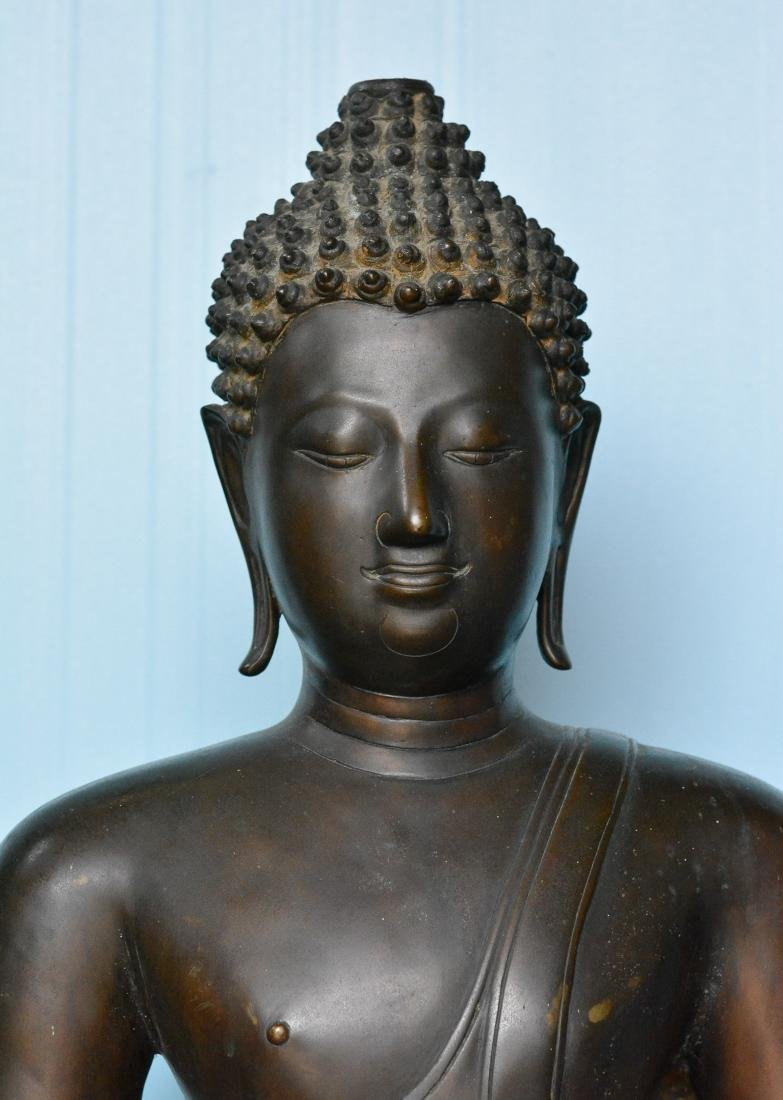 Important Thai Seated Bronze Buddha - 4