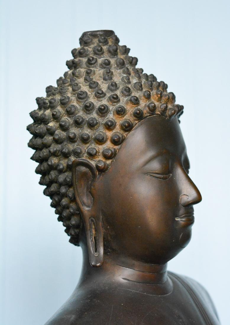Important Thai Seated Bronze Buddha - 7