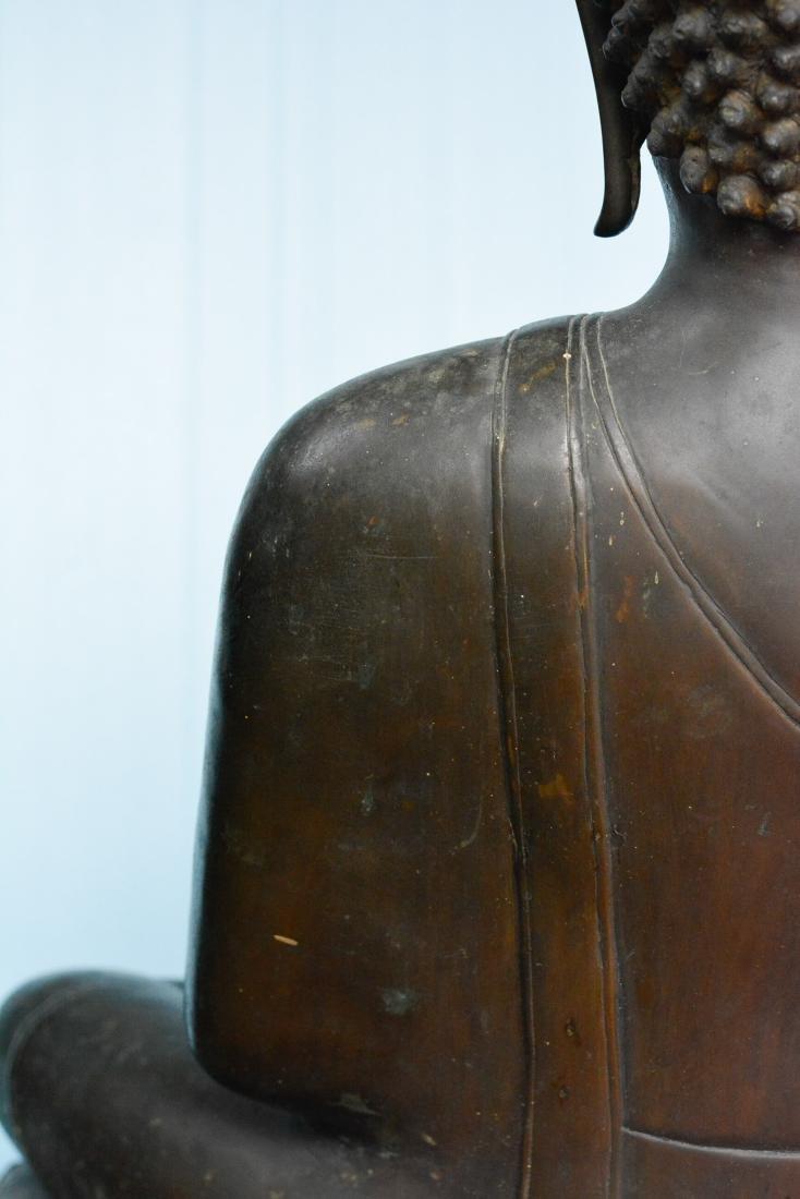 Important Thai Seated Bronze Buddha - 8