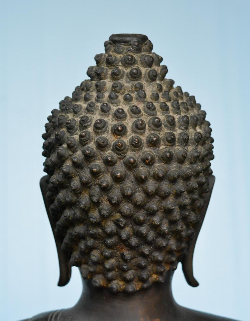 Important Thai Seated Bronze Buddha - 9