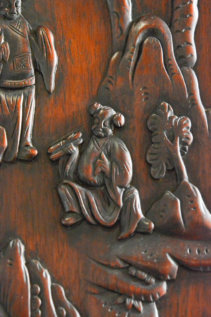 Large Chinese Rosewood Floor Screen - 10
