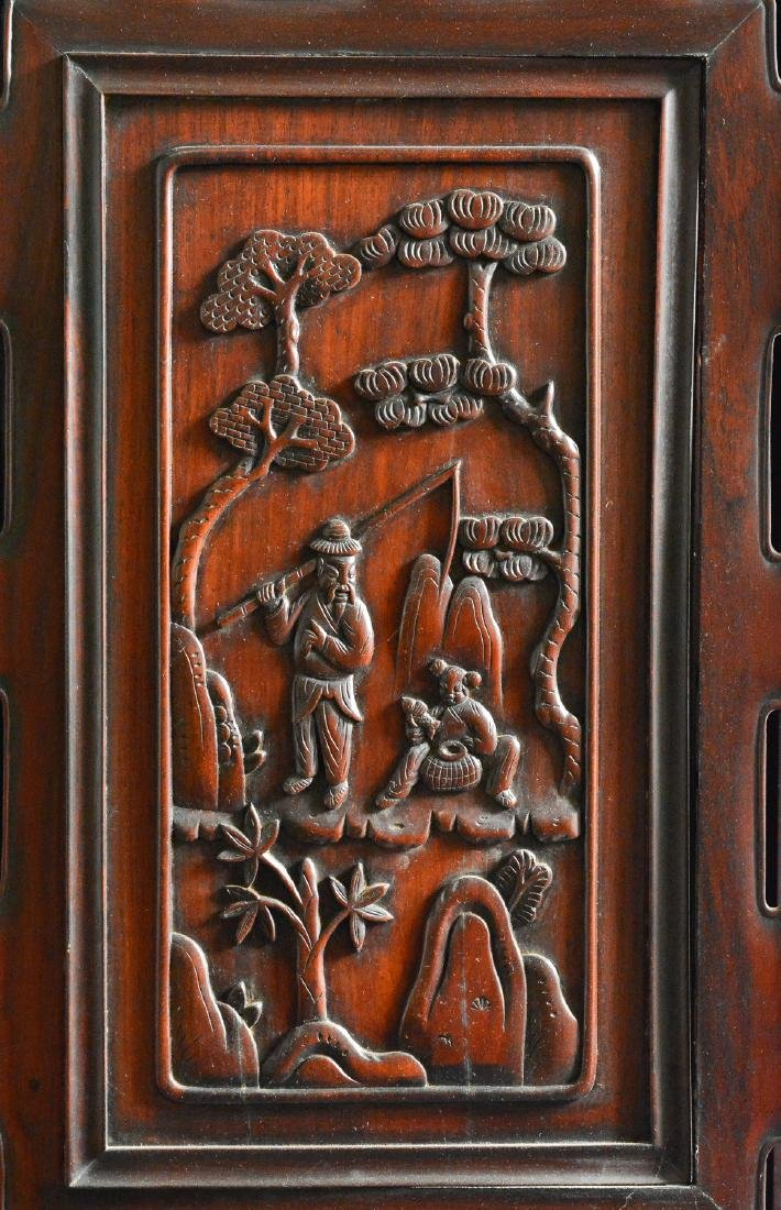 Large Chinese Rosewood Floor Screen - 5