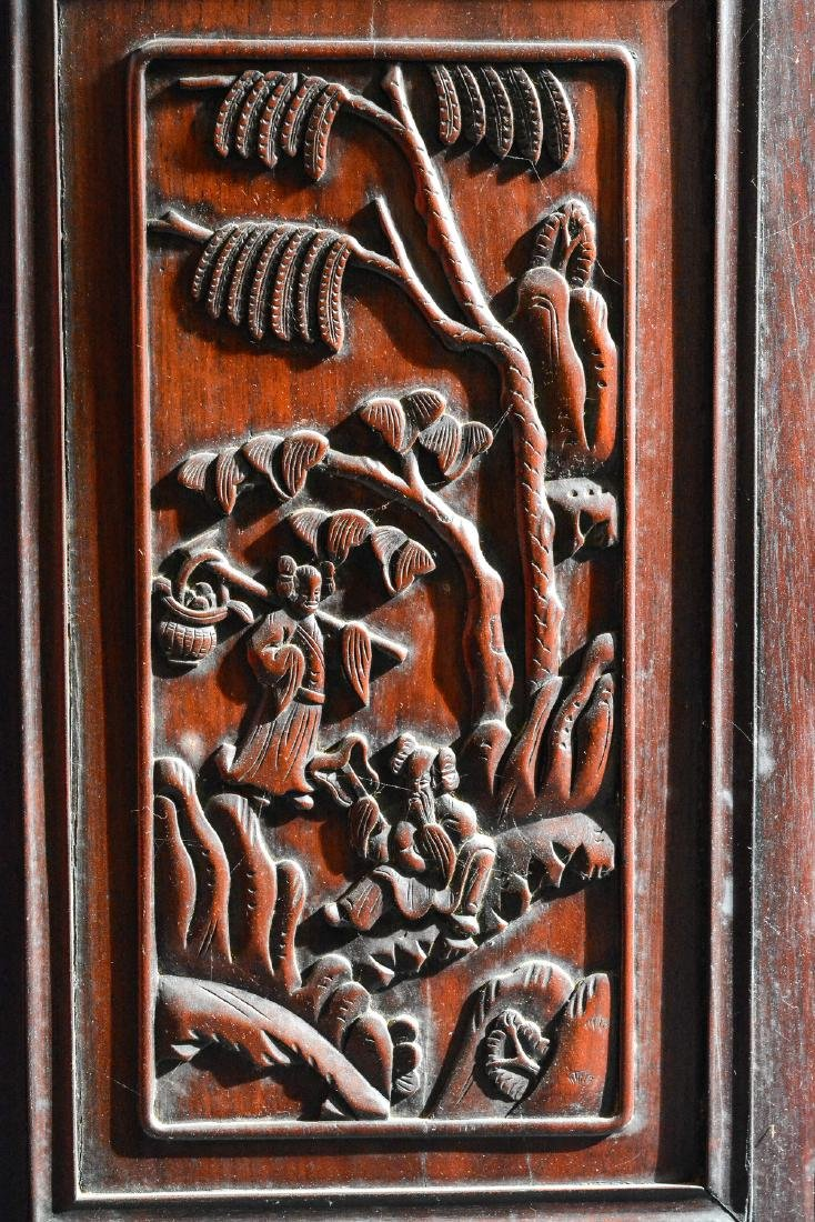 Large Chinese Rosewood Floor Screen - 6