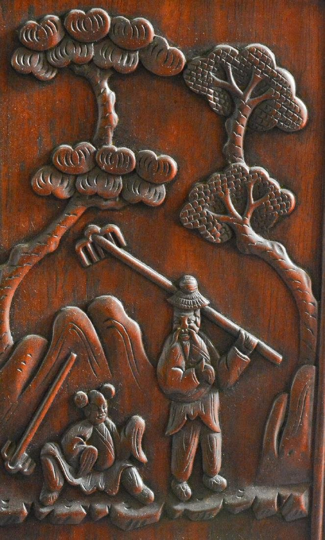 Large Chinese Rosewood Floor Screen - 9