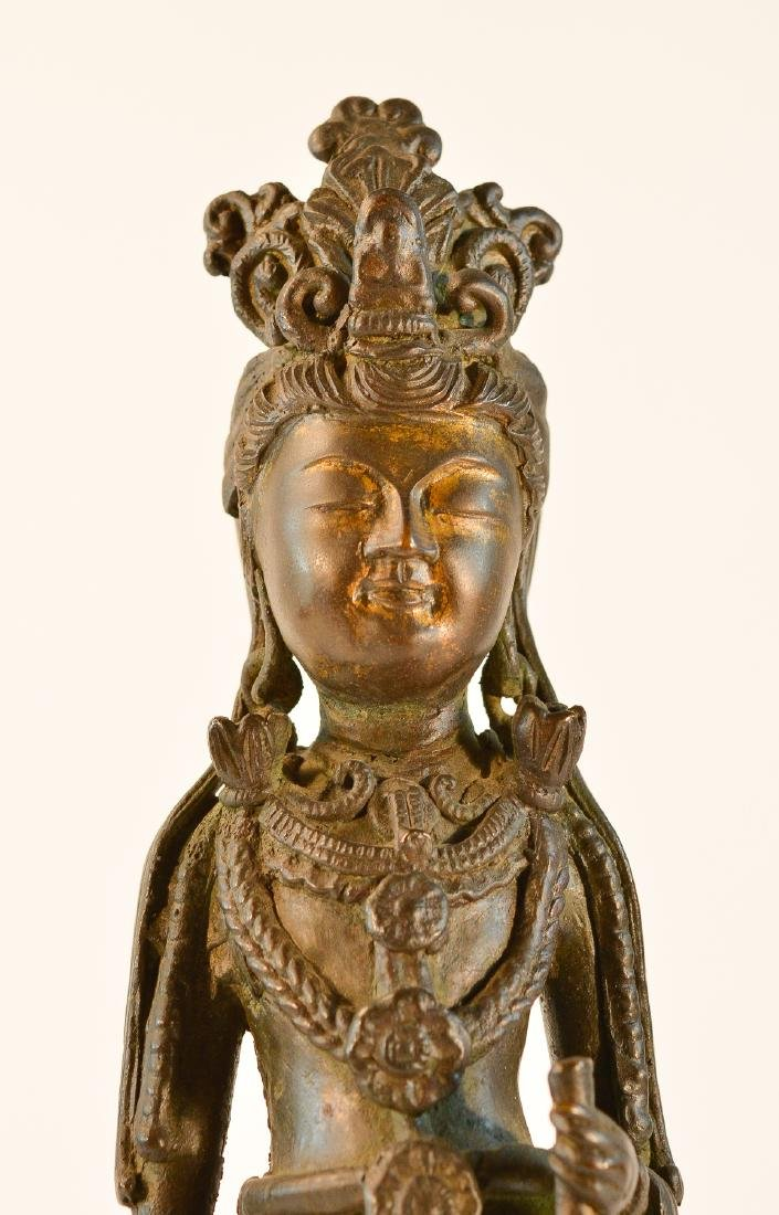 Chinese Standing Kuanyin with Parcel Gilt Face - 2