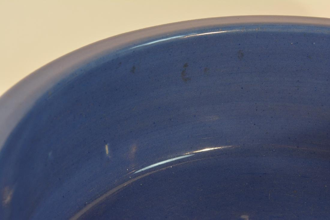 Chinese 18th cen Porcelain Basin with Blue Enamle - 2