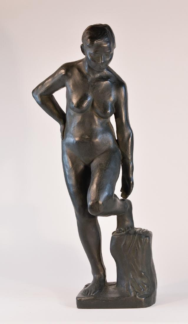 Important Japanese Bronze Sculpture of a Women
