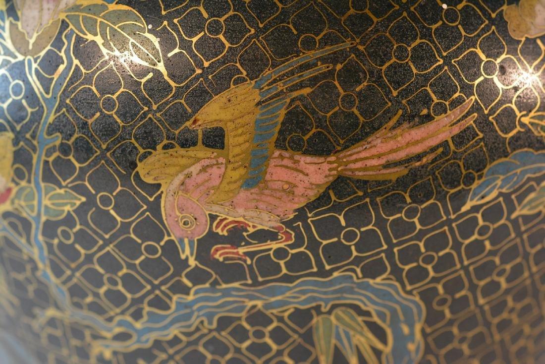 Pair Chinese Cloisonné Urn Shaped Vase - Signed De - 3